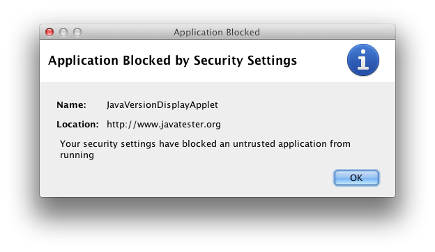 Application Blocked Dialog from Java 7 on OS X.